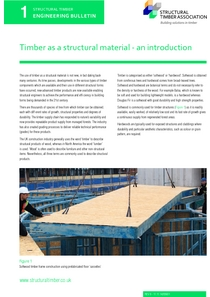 1. Timber as a structural material - an introduction