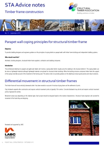 11.Parapet wall coping principles for structural timber frame