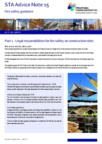 Advice Note 15 Part 1 - Legal responsibilities for fire safety on construction sites
