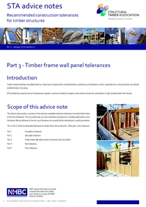 4.3 Timber Frame Wall Tolerances