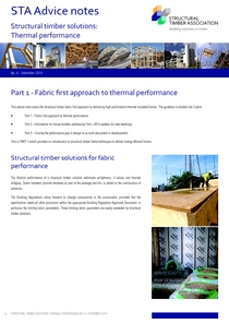 6.1 Thermal performance - Fabric first approach to thermal performance