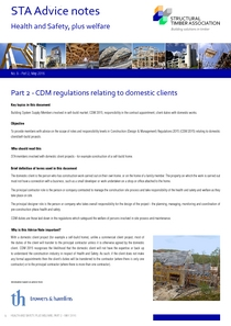 9.2 - CDM Regulations for Domestic Clients