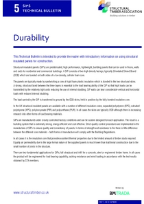 SIPS Technical Bulletin 5 - Durability