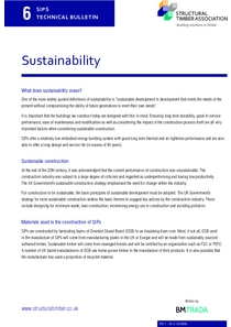SIPS Technical Bulletin 6 - Sustainability