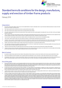 Standard terms & conditions for the design, manufacture,supply and erection of timber frame products