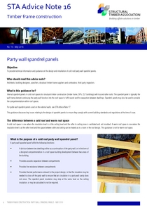 Advice Note 16 Party Wall Spandrels