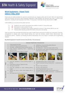 Health and Safety Signpost - Issue 3 Power Tools