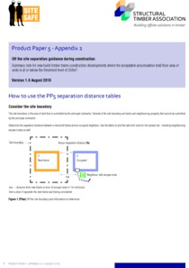 Product Paper 5 - Appendix 2 - How to use the PP5 separation distance tables