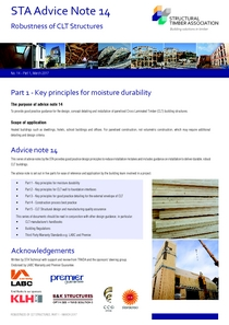 14 Robustness of CLT Structures - Part 1 - Key principles for moisture durability