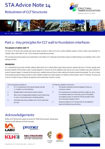 14 Robustness of CLT Structures - Part 2 - Key principles for CLT wall to foundation interfaces