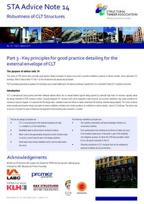 14 Robustness of CLT Structures - Part 3 - Key principles for good practice detailing for the external envelope of CLT