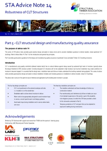 14 Robustness of CLT Structures - Part 5 - CLT structural design and manufacturing quality assurance