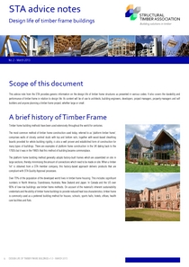 2. Design life of timber frame buildings