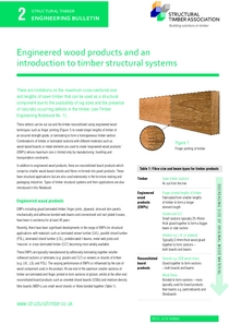 2. Engineered wood products and an introduction to timber structural systems