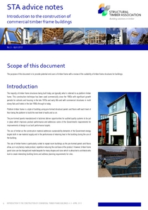 3. Introduction to the construction of commercial timber frame buildings